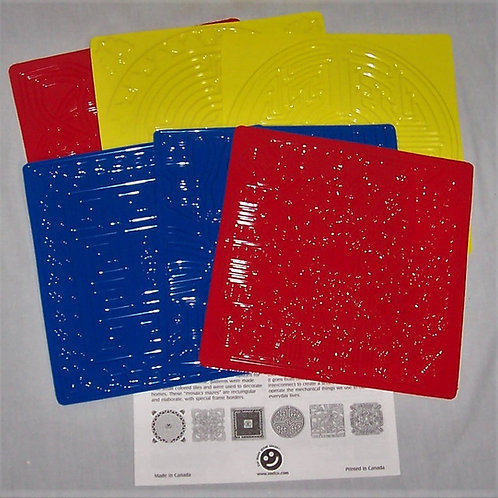 Roylco Texture Rubbing Plates Maze 6 Plates 5 Diff Designs Please READ Details