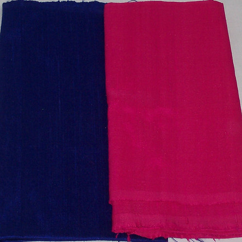 Silk Dupioni Two Pieces Blue Purple and Pink 2/3 Yd + 1/2 Yd