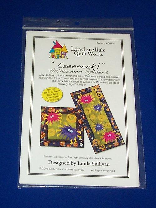 Linderella's Quilt Works Eeeeeeek Halloween Spiders Quilt Pattern Linda Sullivan