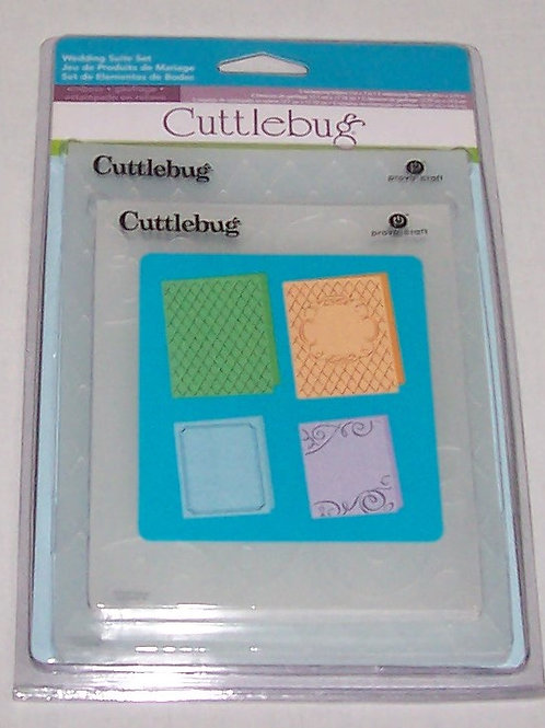 Cuttlebug Embossing Folder Wedding Suite Set 4 Pieces