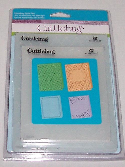 Cuttlebug Embossing Folder Wedding Suite Set 4 Pieces