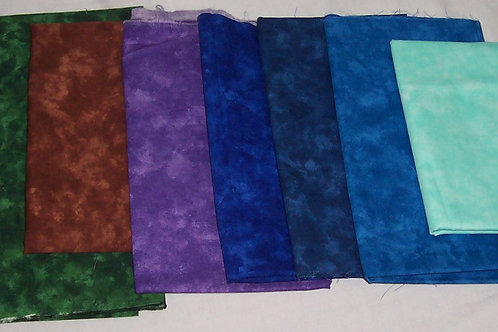 Patrick Lose Moda Marbles Mist Remnants 7 Pieces Approx 3.94 Yards