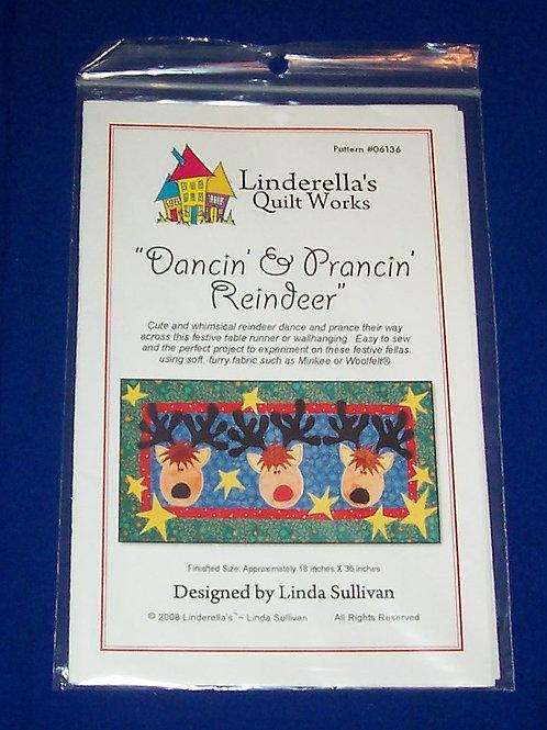 Linderella's Dancin' & Prancin' Reindeer Quilt Pattern Christmas Linda Sullivan