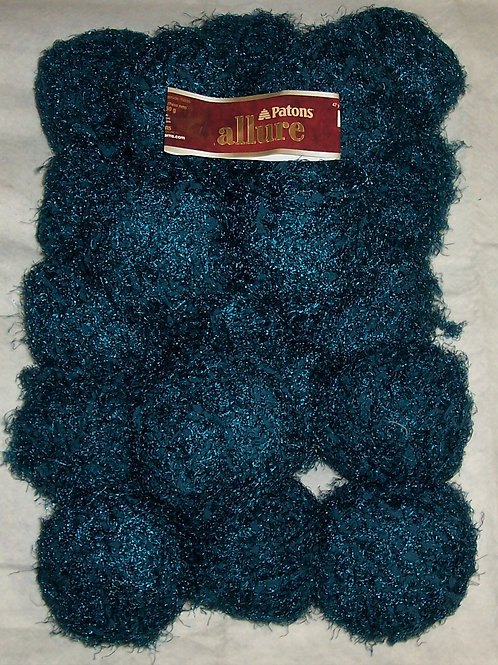 20 Patons Allure Yarn Made in Turkey 1.75oz/47yds 100% Nylon Turquoise