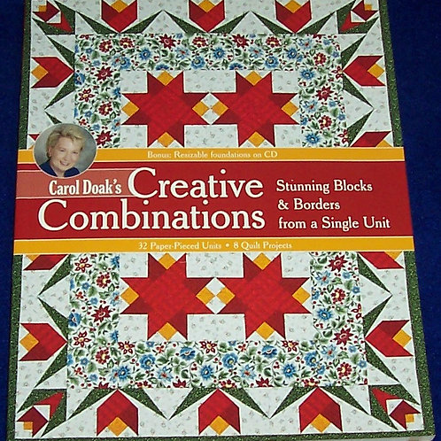 Creative Combinations Carol Doak Quilt Book + CD 32 Paper Pieced Units