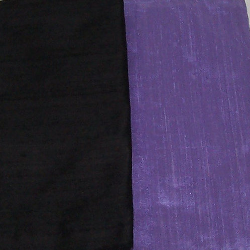 Silk Dupioni Two Pieces Black and Lavender Purple Both 1/2 Yd