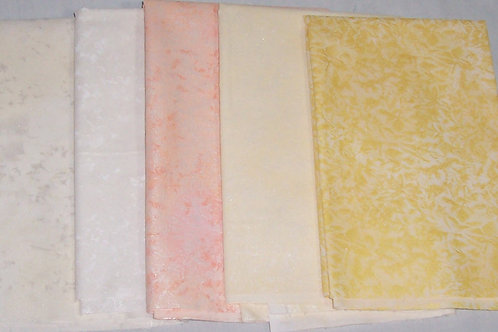 Michael Miller Fairy Frost Remnants 5 Pieces Approx 2 Yards