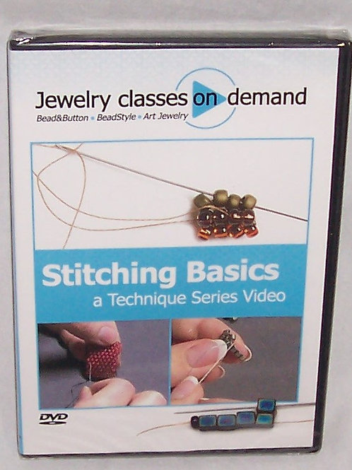 Jewelry Classes On Demand Stitching Basics A Technique Series DVD Art Jewelry