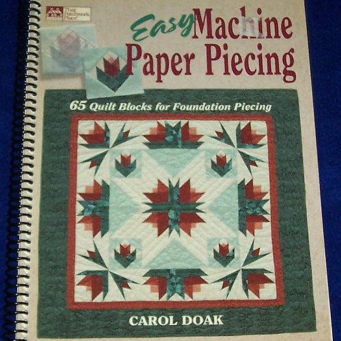 Easy Machine Paper Piecing Carol Doak Quilt Book