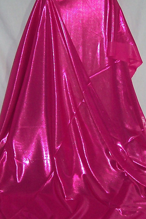 Metallic Foil Shiny Stretch Fabric Lingerie 2 Way Stretch Pink 2 Pieces 3 Yards