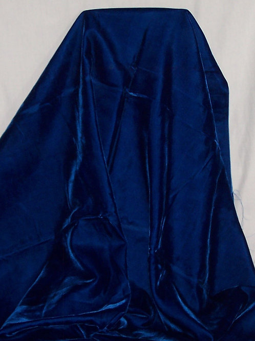 Velvet Like Fabric Blue By the Piece 2-1/4 Yards