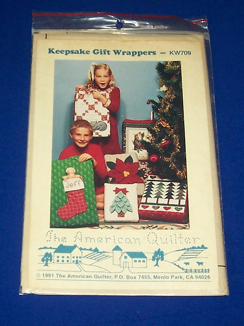 Vintage Keepsake Gift Wrappers Pattern Christmas The American Quiltere