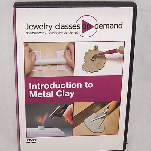 Jewelry Classes On Demand Introduction to Metal Clay DVD Art Jewelry