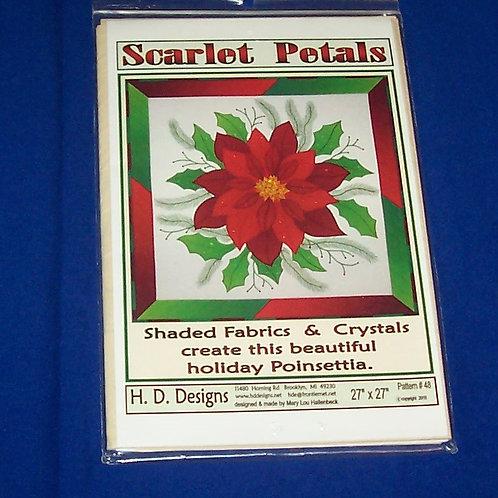 H.D. Designs Scarlet Petals Quilt Pattern Christmas Poinsettia