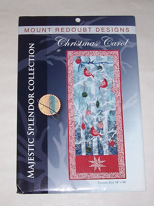 Christmas Carol Mount Redoubt Quilt Pattern Cardinals Majestic Splendor