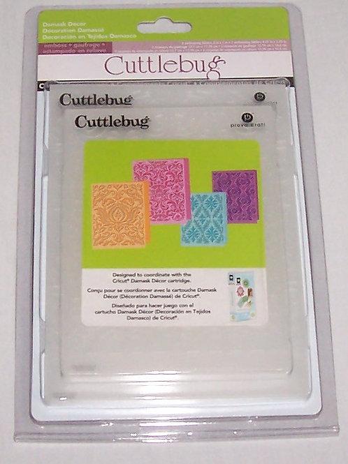 Cuttlebug Embossing Folder Damask Decor Set 4 Pieces