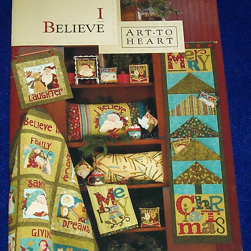 I Believe Art-To-Heart Nancy Halvorsen Christmas Quilt Book