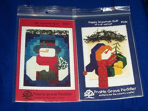 Prairie Grove Peddler Happy Snowman + My Snowman Quilt Pattern Christmas