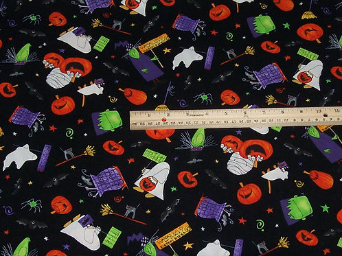 Wilmington Prints Ride at Your Own Whisk Halloween Fabric BTY