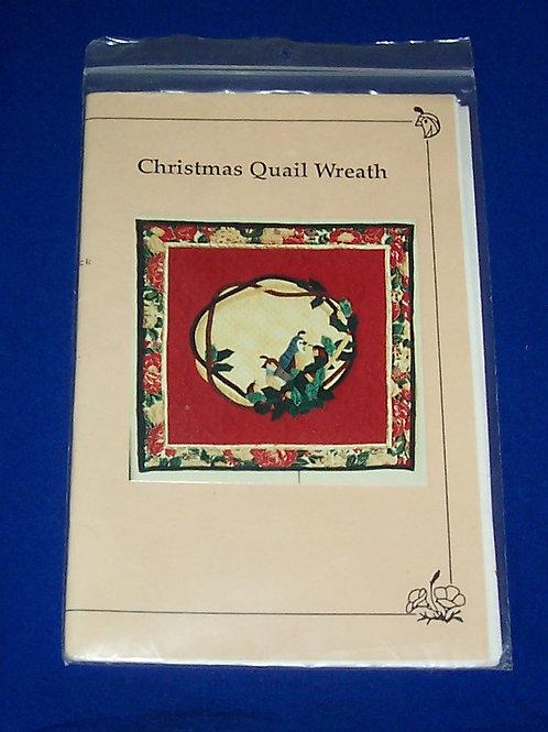 Christmas Quail Wreath Quilt Pattern Christmas