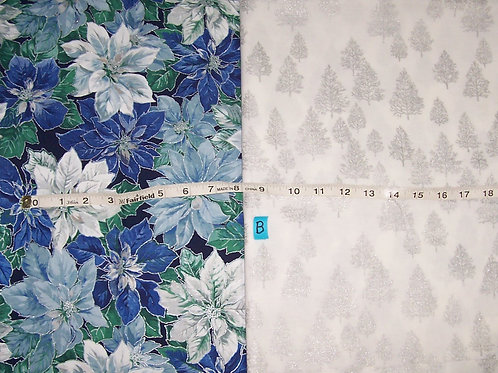 2 Pieces of Holiday Fabric 3 Yards Total *Clearance