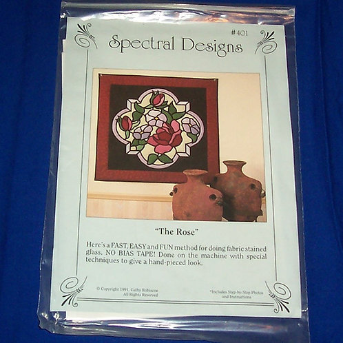 Spectral Designs The Rose Stained Glass Quilt Pattern