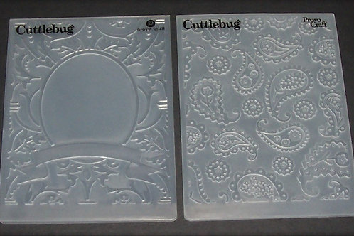 2 Cuttlebug Embossing Folders Perfectly Paisley Decorative Frame Scrapbooking