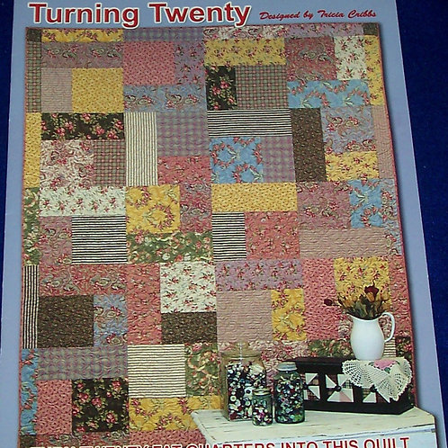 Turning Twenty Fat Quarters Tricia Cribbs Quilt Pattern Booklet