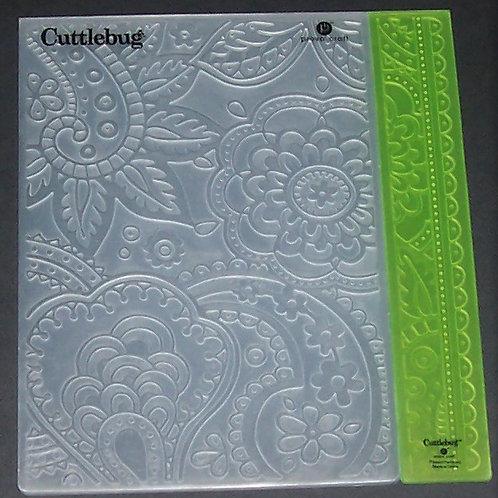 Cuttlebug Embossing Folder & Border Bit of Paisley Scrapbooking