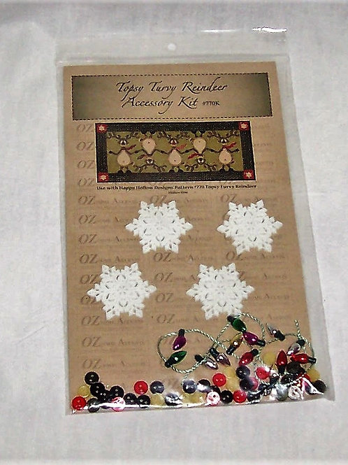 Topsy Turvy Reindeer Accessory Kit Embellishments for Quilt Pattern