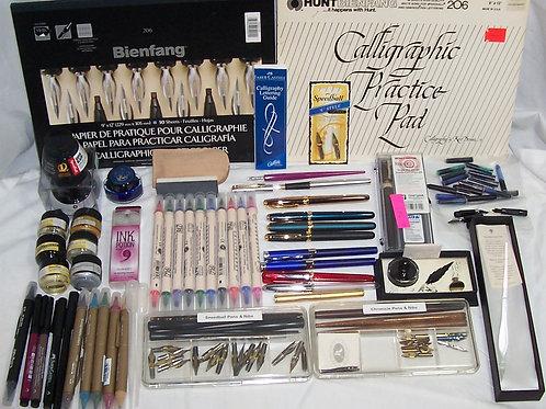 Calligraphy Ink, Markers, Pens, Nibs, Glass Pen Francesco Rubinato Italy