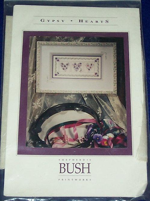 Cross Stitch Pattern Kit Shepherd's Bush Gypsy Hearts