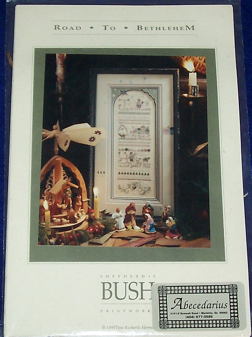Cross Stitch Pattern Kit Bush Road to Bethlehem Chart Embellishments Overdyes