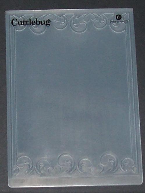 Cuttlebug Embossing Folder Decorative Frame Swirls Scrapbooking
