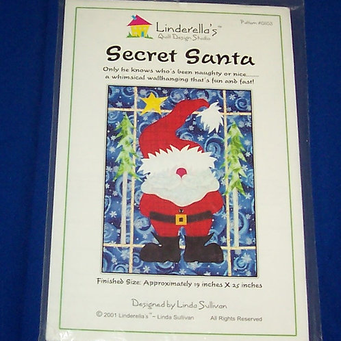 Linderella's Secret Santa Quilt Pattern Christmas Linda Sullivan