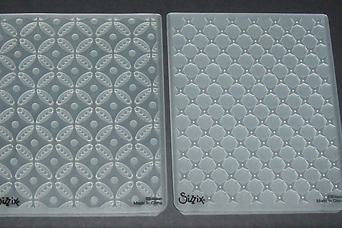 2 Sizzix Embossing Folders Geometric Rings Circle & Stars Scrapbooking