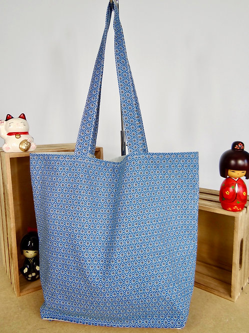 Sac shopping pliable Asanoha - canard