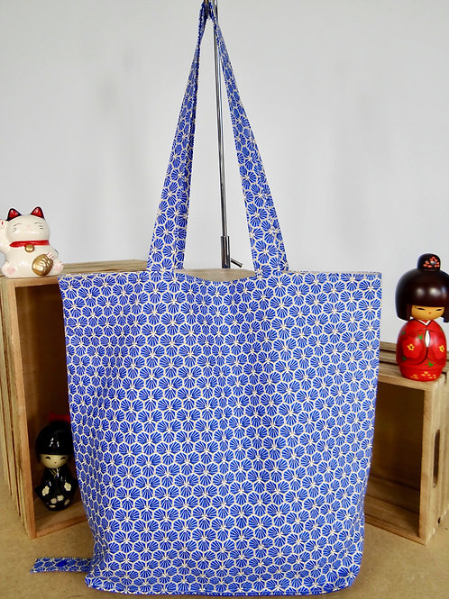 Sac shopping pliable Prisme - bleu