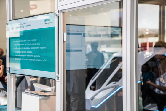 Siemens Innotrans co-creation room 2018