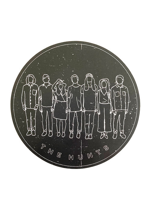 THE HUNTS - BLACK BAND OUTLINE STICKER