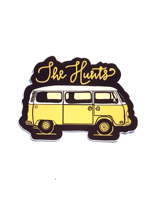 THE HUNTS - BUS STICKER