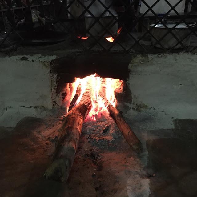 Making tea over a wood fire