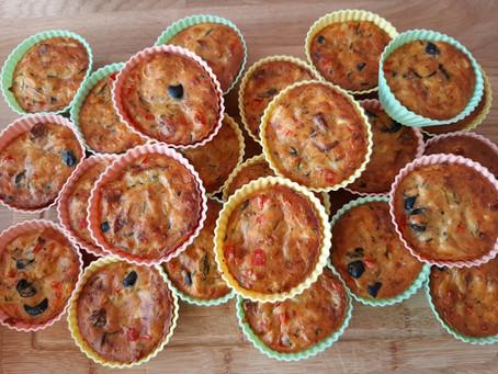 Vegetarische courgette muffins.