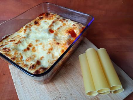Cannelloni gevuld met palmkool.
