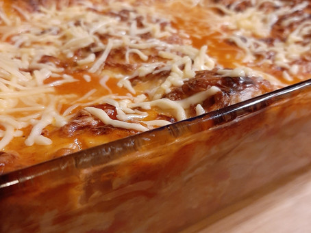 Lasagne met linzen en witte kool