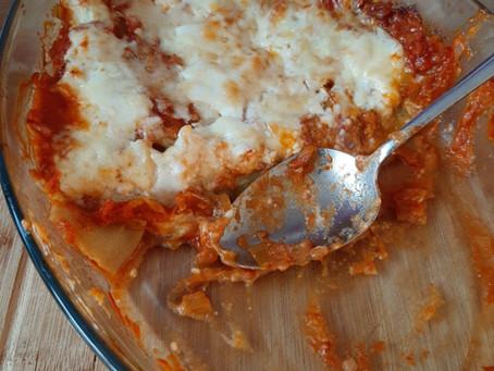 Lasagne met pompoen en tomaat