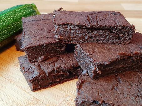 Smeuïge brownies met courgette.
