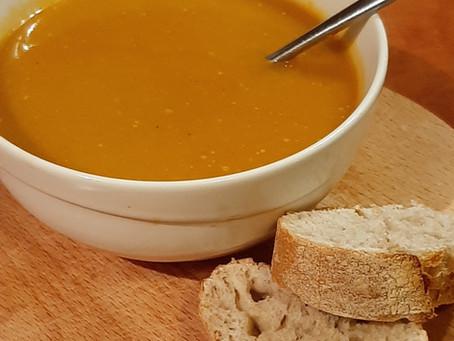 Pompoen soep met knolselderij