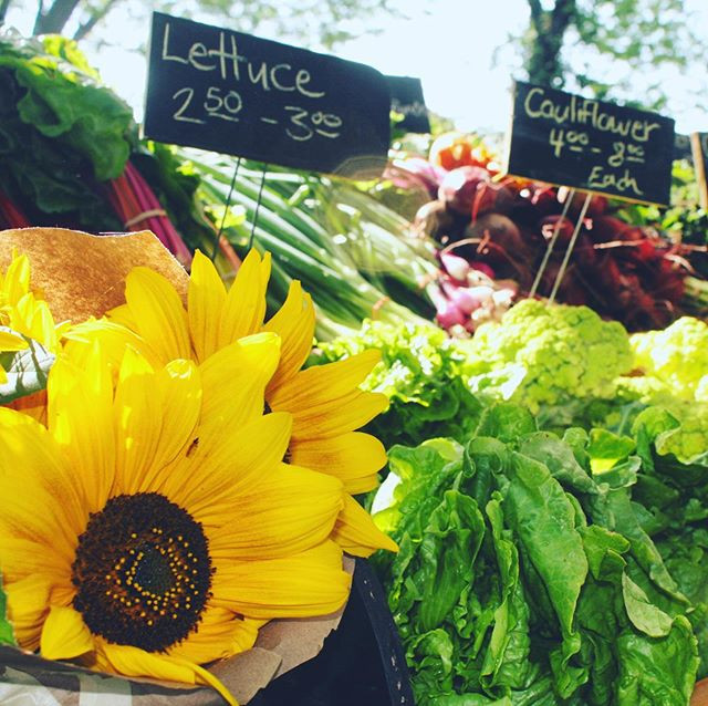Beautiful vegetables and flowers at the Farmers' Market at Sandpoint