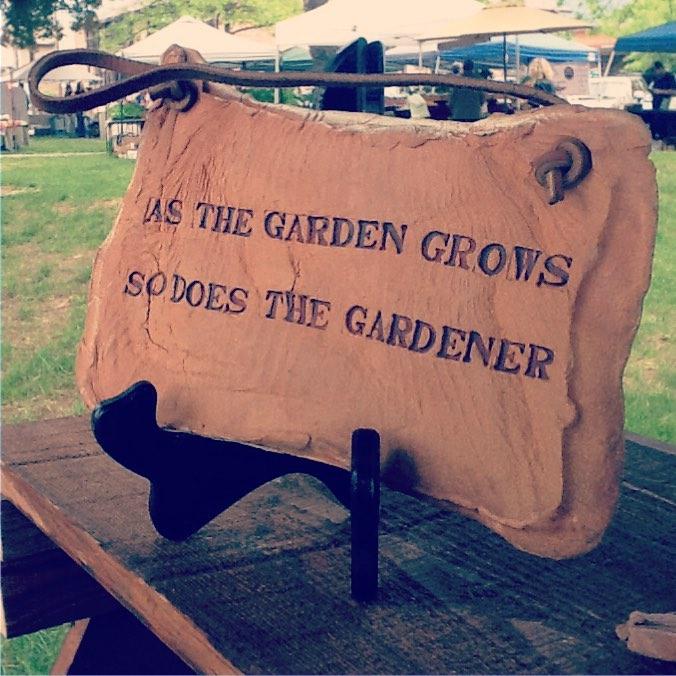 Garden Art in Clay and Herb's HERBS